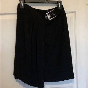 Cache black faux wrap belted skirt 2